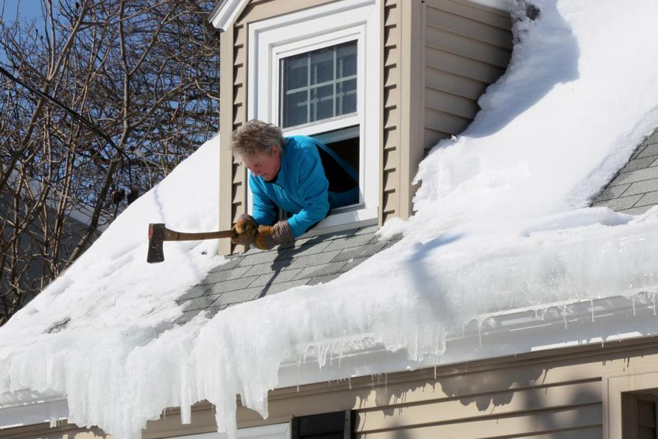 Falling Icicles Strike Injure Residents The Boston Globe